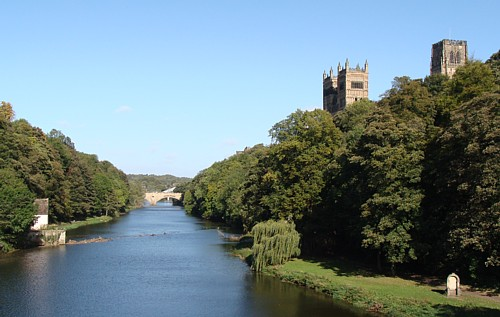 Durham Cathedral rising above the River Wear