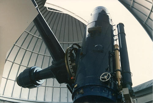 The Burrell-Schmidt telescope - a small, old scope which had fast optics, which was ideal for what I wanted to do.