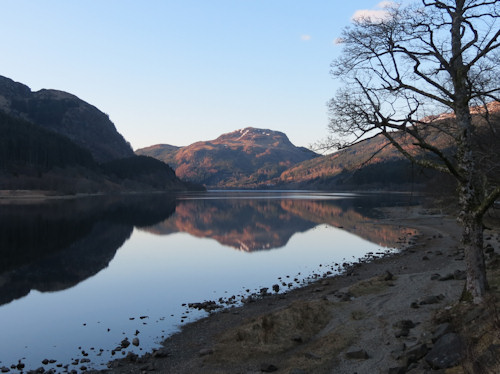Loch Lubnaig near sunset
