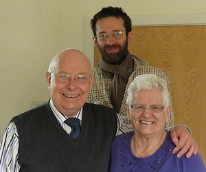 Visiting Lloyd and Margaret Williams in Dewsbury with Tom Hiney