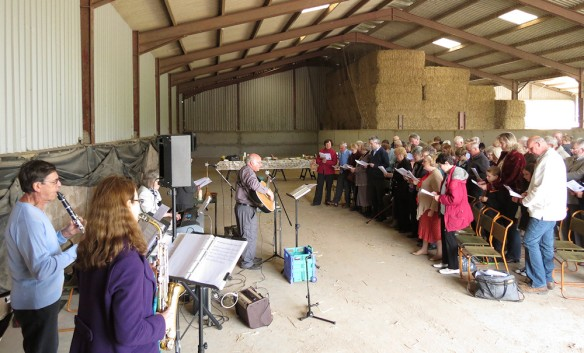Rogation service - in a barn in Broadwas