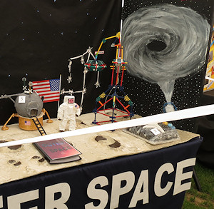 Black hole accretion disk at the Three Counties show...