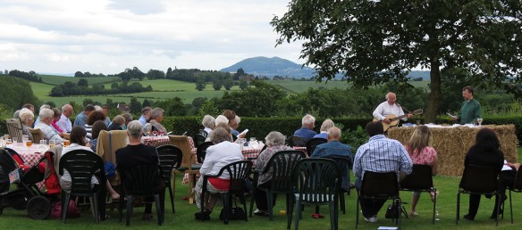 First communion - at Noak Farm above Martley, with the Malverns in the background.