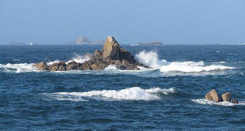 Rocks off the coast of St Agnes