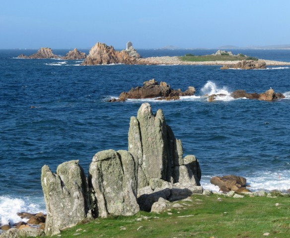 The west coast of St Agnes - a rugged environment!