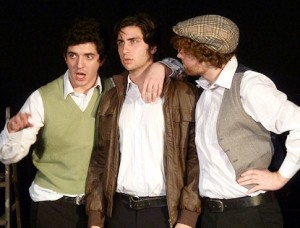 Last Embrace: Joe Stephenson, Rory Vieyra and Oliver de Rohan look like they could be trouble...