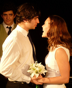 Ronan and Julia in last Embrace, played by Ronan Vieyra and Sally Geake.