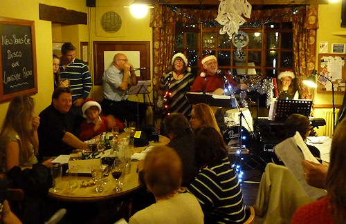 Pub carols at the Admiral Rodney