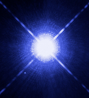 The Sirius system: the bright main star, and the white dwarf