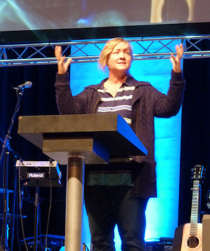 Christy Wimber at the New Wine leaders' conference