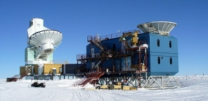 The BICEP2 station at the South Pole, which made the observations.