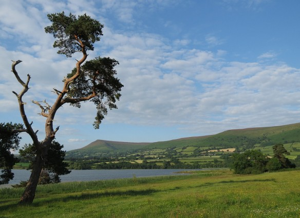 Llangorse lake, which the retreat house at Llangasty looks onto.