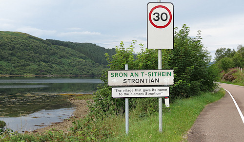"""Strontian: """"the village that gave it's name to the element Strontium"""""""