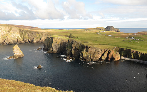 Fair Isle - west and east coasts, from Malcolm's Peak.