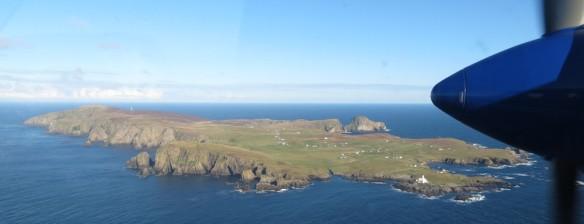 Fair Isle from the air
