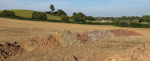 Spoil heaps by one of the trenches