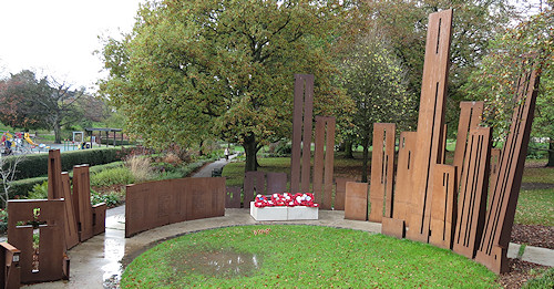 The memorial at Gheluvelt Park in Worcester