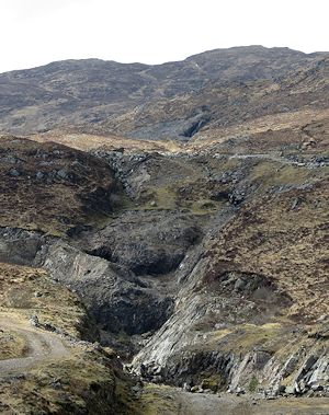 The Whitesmith mine above Strontian today
