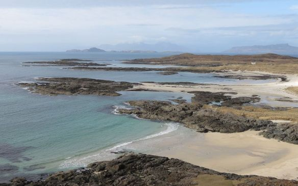 View near Sanna at the end of Ardnamurchan, looking towards Skye and Rhum