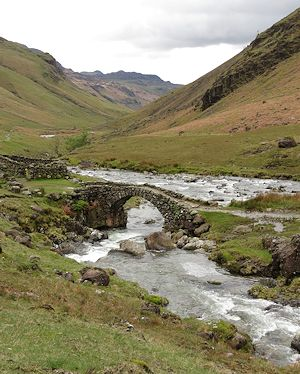 Bridge over the Esk river, upper end of Eskdale