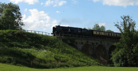Severn Valley Railway steam train, the 'Sir Keith Park', on its way back from Bridgnorth.