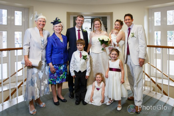 We did some of the photos in church before heading off elsewhere. On my right are Jen's mum and mine (the Margarets!), on Jen's left are Rachel & Andrew Siggers; the page boys and flower girls are Frederick Hill, Sophie Siggers, Geroge Siggers and Hannah Hill.