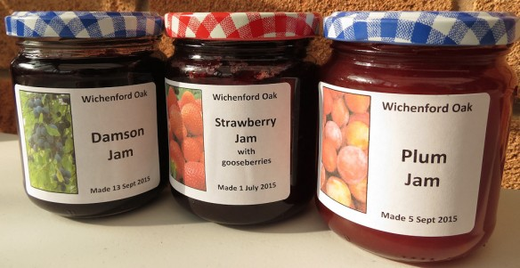 Some of the jam made this summer.