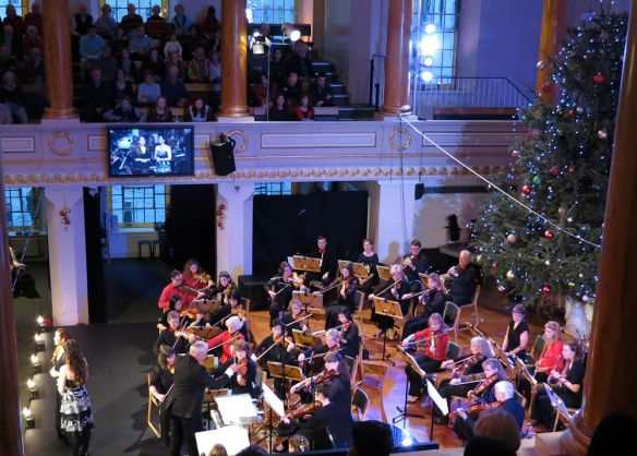 The All Souls Christmas Priase event in full swing