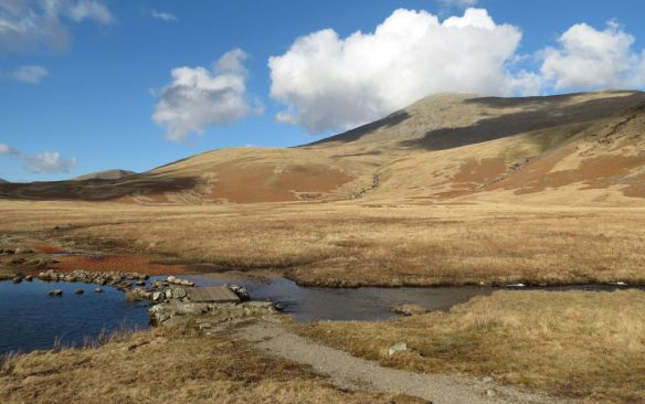 Sca Fell from Burnmoor Tarn... the mountain looks deceptively easy from here!