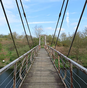 The bridge onto the number 3 bed at Woolson Eyes Nature Reserve