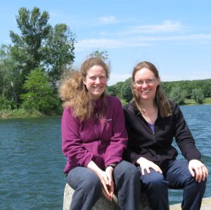 Jen and Rachel on the Danube Island in Vienna