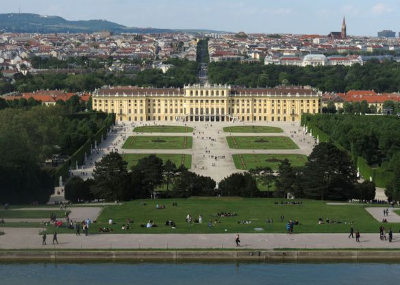 The Schönbrunn Palace, built by the Habsburg dynasty