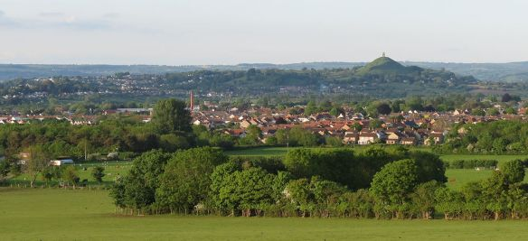 Not a bd view to have on a commute... Glastonbury Tor from Berhill on the way to Castle Cary