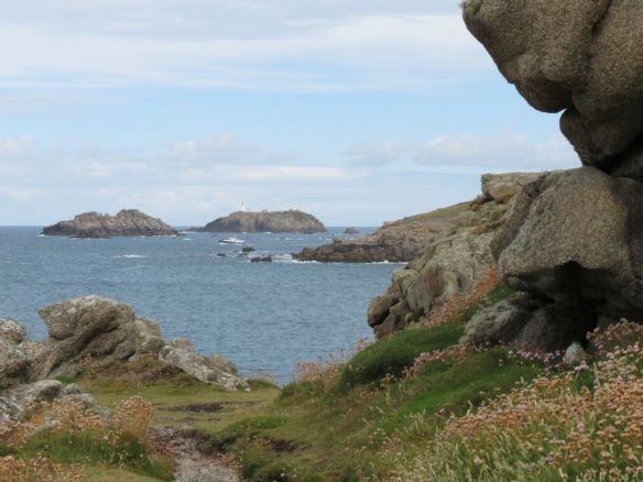 On Shipman Head Down - the northern tip of Bryher - looking towards Men-a-vaur and Round Island lighthouse.