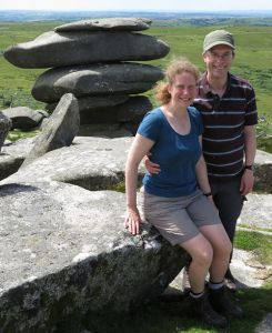 Jen and Rich at the Cheesewring, Bodmin Moor