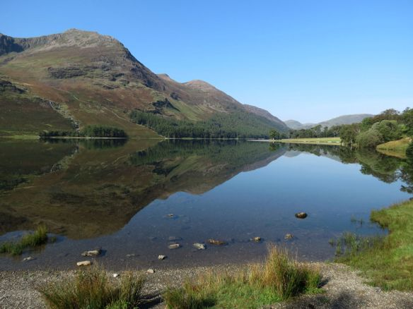 Reflections on Buttermere: High Stile is the mountain