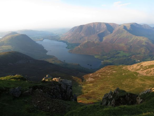 Getting clear views was difficult because there was a light mist all day, but Crummock Water and Grasmoor still looked stunning from Red Pike.