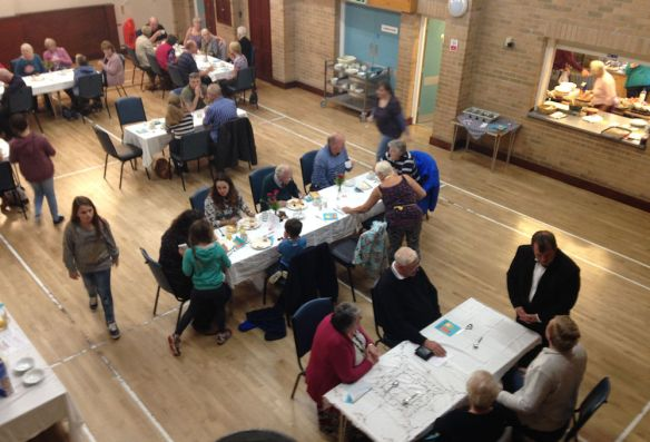 The Big Breakfast in the Ashcott Village Hall