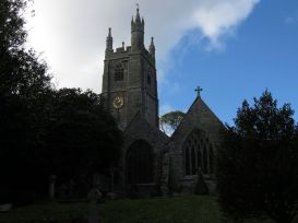 The church of St Mawgan in Pydar, where my grandfather was rector in the 1920s.